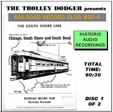 South Shore Line Trolley Audio on 2 CDs - Railroad Record Club #SP-4