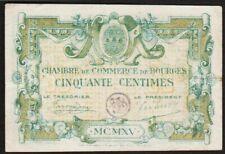 50 CENTIMES 1915 BOURGES / FRANCE - Billet de nécessité - chambre de commerce