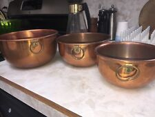 Coppercraft Guild Taunton Mass Tandy Meringue French Style Vintage Mixing Bowls