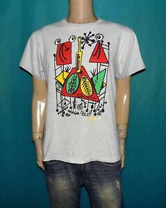 tee-shirt DI ROSA vintage en coton gris HANES made USA taille 38/40 ou M