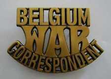 WWII - BELGIUM WAR CORRESPONDENT (Reproduction)