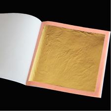 25 X EDIBLE / DECORATIVE GOLD LEAF LOOSE SHEETS - 24 CARAT - 8CM X 8CM