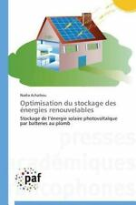 Optimisation du Stockage des Energies Renouvelables by Achaibou Nadia (2014,...