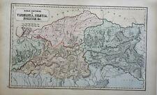 Roman Empire Pannonia Illyricum Dacia Moesia Danube 1855 Philip Historical map