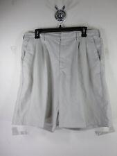 Nike Golf mens solid khaki pleated drifit golf shorts 35 EUC