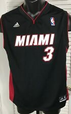Adidas NBA Dwayne Wade #3 Miami Heat Jersey Youth L 14-16 Black Print Letter