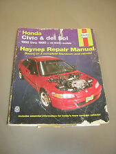 1992-1995 Haynes Honda Civic & del Sol Repair Manual DIY Repair Guide