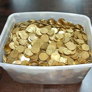 Lot of 100 Coins - 5 Agorot - Copper old Israel Five Agora World Coin Collection