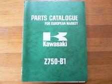 KAWASAKI Z750-B1 1975 PARTS CATALOGUE MOTORCYCLE MOTORRAD BIKE