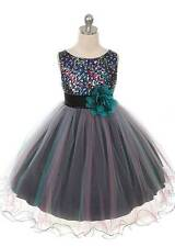 BLUE-TEAL-FLOWER-GIRL-DRESS-WEDDING-CHRISTMAS-RECITAL-HOLIDAY-TULLE-SEQUIN