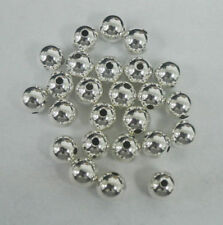 1x STERLING SILVER 8mm HOLLOW BEAD JEWELLERY MAKING 2.2mm hole