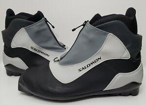 Salomon SNS Profil Ski Cross Country Skiing Black Boots Men's US Shoe Size 11.5