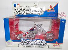 ST LOUIS CARDINALS STL Collectible DieCast OCC Chopper Motorcycle Bike Ertl silv