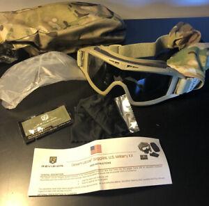 NEW Revision Desert Locust APEL Ballistic Goggles System Kit Multicam Tan