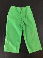 Ralph Lauren 18M Green Pants Elastic Waist Front Back Pockets 100% Cotton