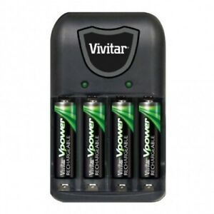 Vivitar AA/AAA Battery Charger With 4 AAA Batteries - VIV-BC-172