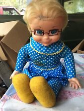 Vintage (1967) Miss Beasley Doll 21� Tall W/collar Apron Glasses Picture