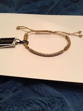 Friendship Bracelet / Gold Juicy Couture Pave Bar