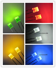 100pcs 2x3x4mm Red Yellow Blue Green White Diffused LED Rectangle Leds Light New