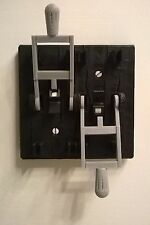 Frankenstein Dual Knife Light Switch Plate Cover Flip Handle Toggle - Black