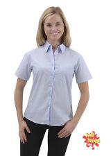 Cotton Short Sleeve Classic Collar Tops & Shirts for Women