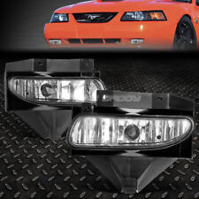 FOR 99-04 FORD MUSTANG GT CLEAR LENS BUMPER DRIVING FOG LIGHT REPLACEMENT LAMPS