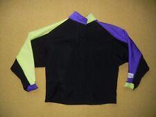Vtg YETI WEAR Purple/Yellow Neoprene WET SUIT SHIRT Surfing Kayaking Size SMALL
