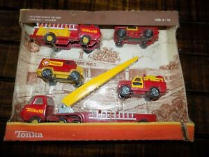 Unopened Tiny Tonka Fire engine set 830 5 pack Boxed