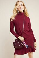 NEW $160 ANTHROPOLOGIE by Bailey 44 Greta Tutleneck Dress in CABERNET SZ XS CHIC
