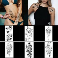 Temporary Tattoos Stickers Fashion Rose Flowers Leg Arm Chest Body Sticker