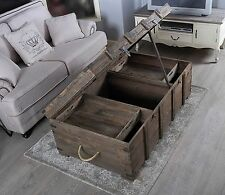 Reclaimed Rustic Coffee Table Vintage Shabby Chic Farmhouse Wooden