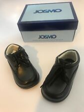 d33126a3aa44 JOSMO 19878 Black Lace up Casual Walking Dress Shoes Infant Toddler Boys   Size 4