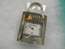 "NEW Tiffany & Co ""1837"" Watch Swiss Stainless Lock Charm (Opens) Pendant MINT!"