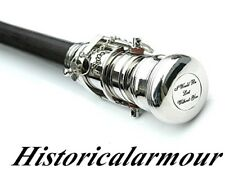 Vintage Hand Crafted Walking Stick Handle Stick Telescope Head Handmade Wood Can
