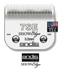 "Andis SHOWEDGE 7SE (7FC)3.2mm 1/8"" BLADE*Fit AGC,SMC,Oster A5 A6,Wahl KM Clipper"