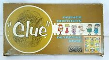 Vintage 1960 Parker Brothers CLUE Detective Board Game 100% COMPLETE