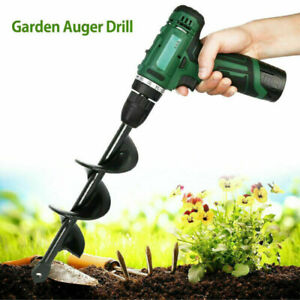 Planting Auger Spiral Hole Drill Bit for Garden Yard Earth Bulb Planters ToDZ