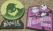 Nightmare Before Christmas 2-Table Top Signs Boogie Down/Halloween Town