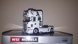 """Wsi Scania Topline 4x2 in scala 1:50 """"Andreas Schubert"""", no tekno conrad corgi"""