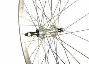 Raleigh Tru-Build Rear MTB Wheel Alloy 26 x 1.75 Threaded Hub - Silver