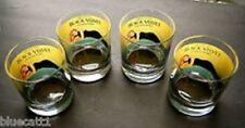 Black Velvet Dawn Davidson whiskey glasses (set of four)