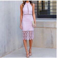 Bardot Lace Halter Dress Size 4