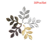 30pcs/set Leaf Filigree Wraps Connectors Metal Charm DIY Findings Jewelry MakiSO