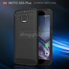 For Motorola Moto G5S Plus LTE XT1806 Carbon Fiber Texture Slim TPU Case Cover