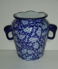 BEAUTIFUL VICTORIA IRONSTONE TWO HANDLED WALLPOCKET / VASE MARKED EXCELLENT COND