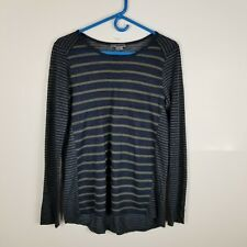 b1cb4c3c8b Vince Women Top Popover Shirt Long Sleeve Striped Linen S