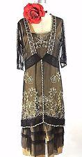 Downton Abbey Dresses Nataya Dress Black Steampunk Layered Cocktail formal XL