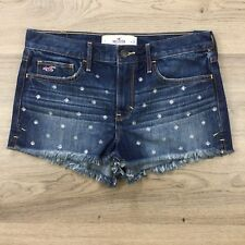 Hollister High Rise Cut Offs Size W28 Women's Denim Shorts NWOT (BS10)