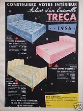 PUBLICITÉ 1956 TRÉCA MATELAS ET SOMMIER PULLMAN TRECARITZ - ADVERTISING
