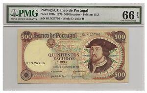 *jcr_m* PORTUGAL - 500$00 D. JOÃO 06.09.1979 PICK# 170a PMG MS-66